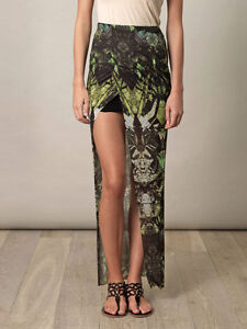 54028c8707 Image is loading Helmut-Lang-Cicada-Print-Asymmetric-Layered-Wrap-Skirt-