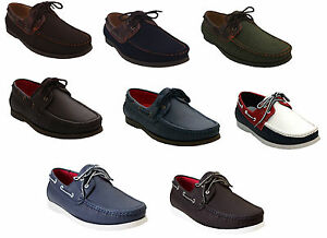 Image Is Loading New Mens Gents Casual Lace Up Faux Leather