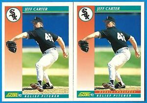 Details About 1992 Score Jeff Carter Ex Mt Chicago White Sox Error Correction