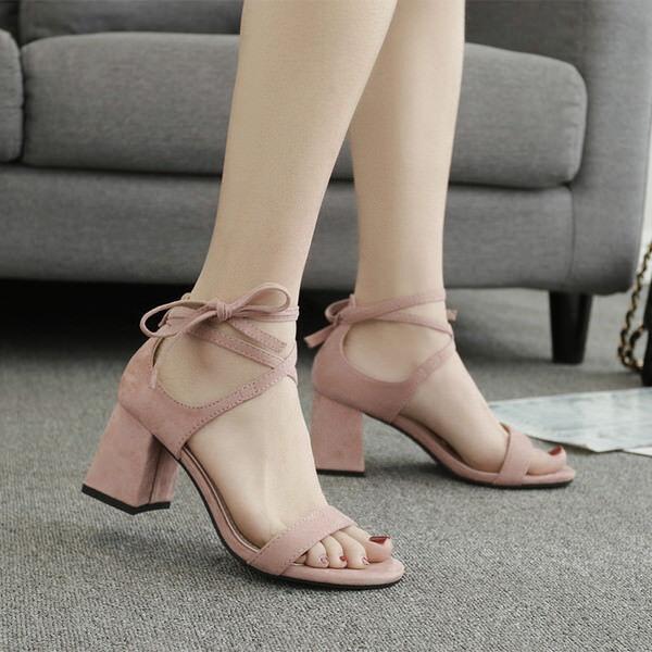 Holzschuhe hausschuhe hausschuhe hausschuhe 7 cm elegant Rosa absatz quadrat sandalen simil leder 9956   a4ed0a