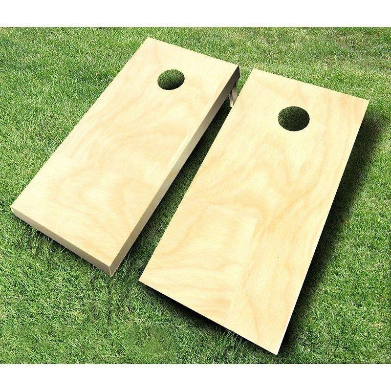 Plain Unfinished CORNHOLE BOARDS SET Bean Bag Toss + 8 ACA Regulation Bags