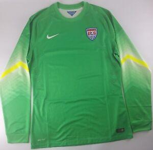 7b5525705e6 Nike US Soccer Authentic Goalkeeper Jersey Men s Size XL Green USA ...