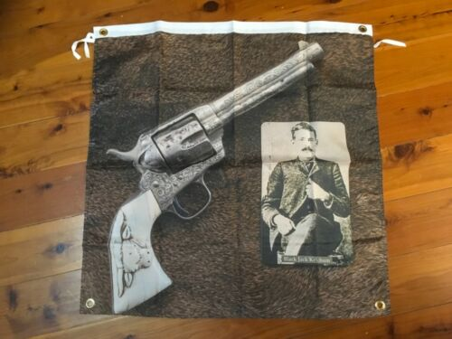 Colt smith and Wessan poster man cave flag bar wall hanging sign pistol gun bike