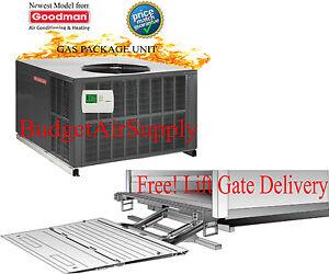 5 ton goodman 14 seer gas elec package unit 81 100k btu. Black Bedroom Furniture Sets. Home Design Ideas