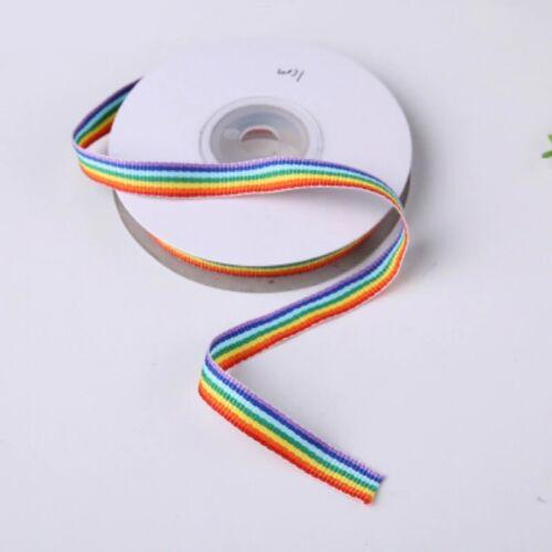 Pride 10mm Rainbow Ribbon Bright *FREE WORLDWIDE SHIPPING* 4.5 Metres Gay
