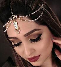 Indian Rhinestone crystal Bohemian Hair Head Chain headdress Headpiece Headband