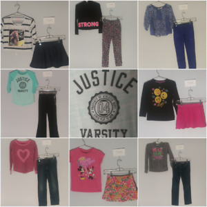 Girls-Size-7-amp-7-8-Jeans-Clothes-Lot-Shirts-Tops-Outfits-CLOTHING-Justice