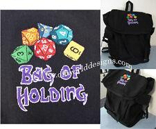 Item 2 Vintage Canvas Backpack Bag Of Holding Magic User D Dice D20 Offworld Designs