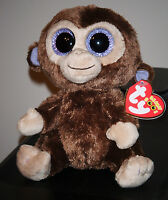 Ty Inc Beanie Baby Boos Boo's Coconut The Brown Monkey 6 Inch Big Eyes 36003 Toys