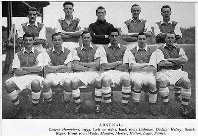 ARSENAL FOOTBALL TEAM PHOTO>1952-53 SEASON