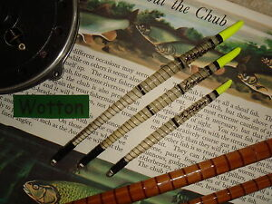 TRADITIONAL-HANDMADE-SWAN-QUILL-CHUBBER-FLOAT-SET-Yellow