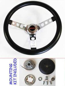 GMC-Pick-Up-Truck-Jimmy-Van-GRANT-Black-Steering-Wheel-13-1-2-034-GMC-cap