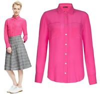 Marks and Spencer Womens Pink Pure Silk Top Blouse Shirt RRP £99.00 Size 6 to 18