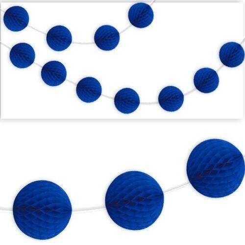Wabenball-Raumgirlande 2,13m dunkelblau