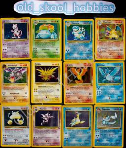 ORIGINAL-Pokemon-11-Card-Lot-100-Vintage-WOTC-1st-Edition-RARE-Included