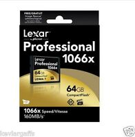 Lexar Media Professional 64 Gb Compactflash (cf) Card 1066x Fast In Orig Box