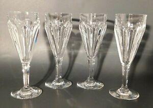 Baccarat-Crystal-Champagne-Flutes-Glasses-France-Set-of-4
