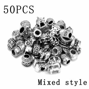 DIY-50Pcs-Lot-Mixed-Tibet-Silver-Beads-Spacer-Jewelry-Making-Bracelet-Charms-Hot