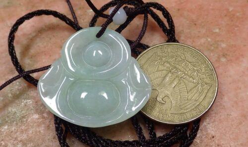1piece Certified ICY Green 100/% Natural A Jade jadeite pendant Buddha God