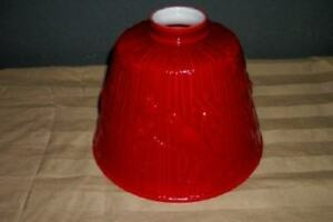RARE-CASED-RED-GLASS-REPOUSSE-BIRDS-LAMP-SHADE-LAMPSHADE-CHIC-COTTAGE-SHABBY