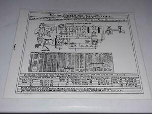 Wurlitzer Model 312 412 Juke-Box Système de son schéma feuilleté 660 Amplificateur