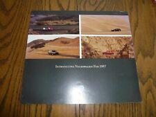 1987 Vw Volkswagen Golf Gl Jetta Gti Scirocco Quantum Vanagon Sales Brochure