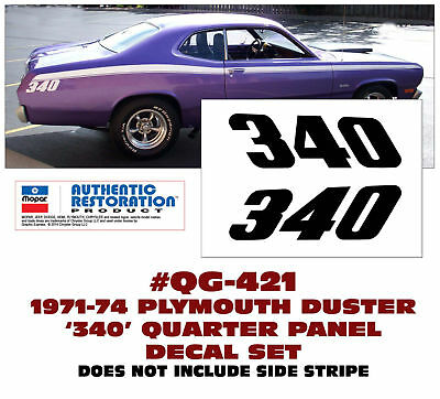 CONNECTED LICENSED GE-QG-398 1972 PLYMOUTH DUSTER 340 SIDE STRIPE KIT