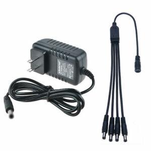 Details about 12V 2000mA Power Supply Adapter/1-4 Splitter for Surveillance  DVR Camera Zmodo