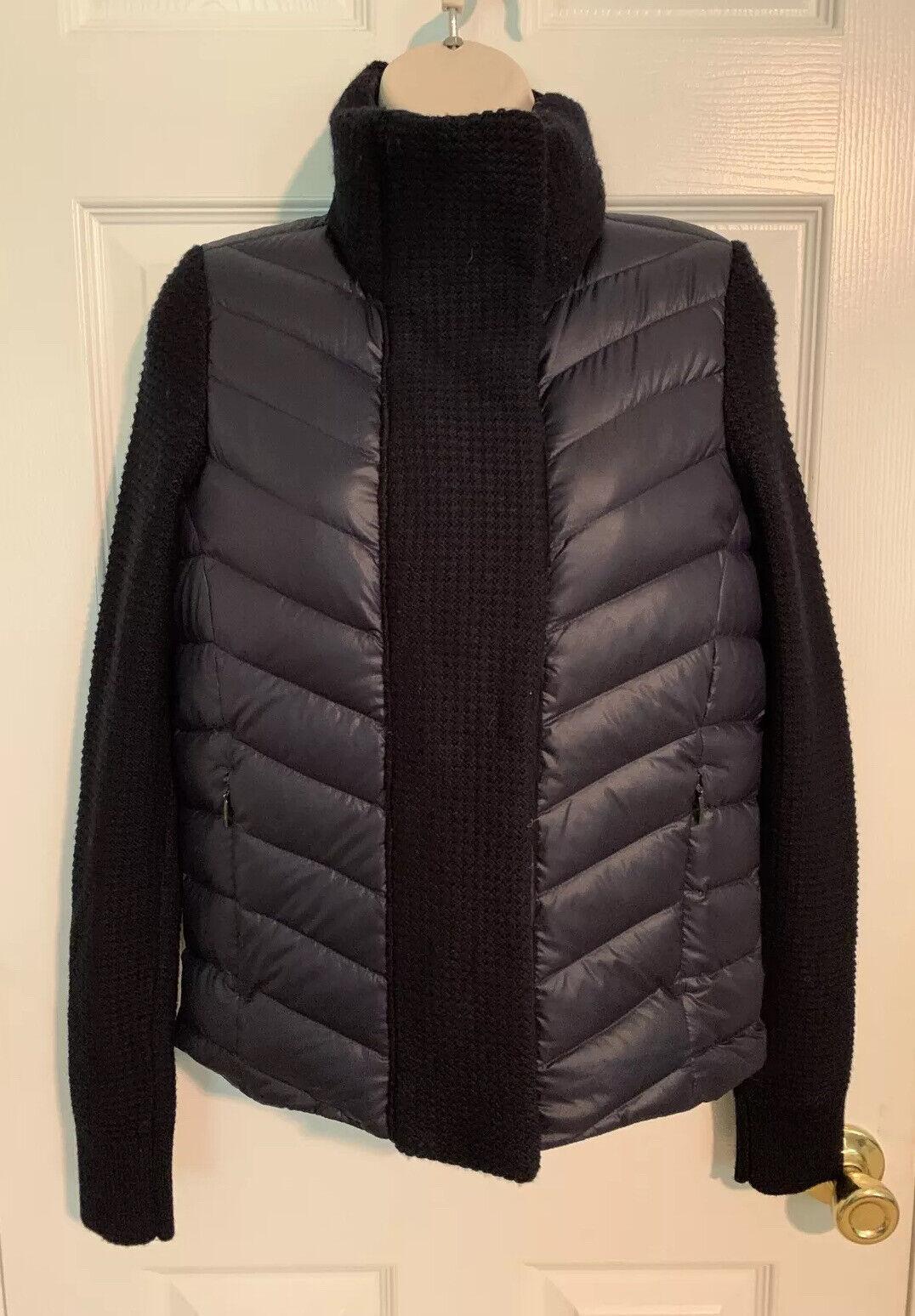Athleta Responsible Down Sweater Jacket Size XXS Blue