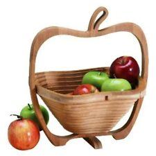 Collapsible Bamboo Wood Handicraft Fruit Basket