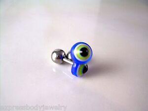 1 Pc or 2 PCS 16g Evil Eye Fake Cheater Earrings Ear Plugs Gauges Tragus 4g Look