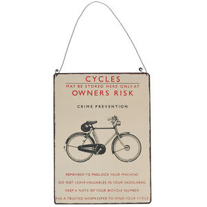 dotcomgiftshop-VINTAGE-STYLE-BICYCLE-METAL-SIGN-CYCLES-WALL-DECORATION