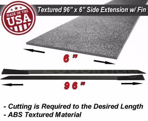 "96/"" Extension Flat Bottom Line Lip Side Skirt w// Fin Diffuser For   VW  Porsche"