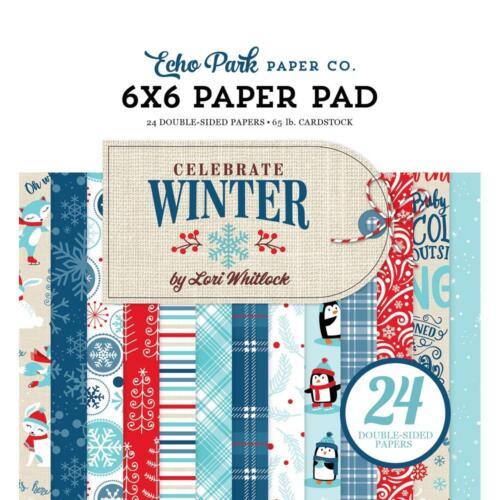Echo Park ~ CELEBRATE WINTER ~ 6x6 Paper Pad 24 pcs ~ Snow