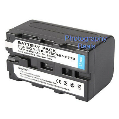 HVL-20DW NP-F750 Video Light NP-F770 DCR-TR8000 Rechargeable Battery 4400mAh For Sony NP-F730