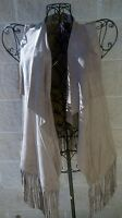 Love By Design Faux Suede Long Vest With Fringe Western Hippie Boho