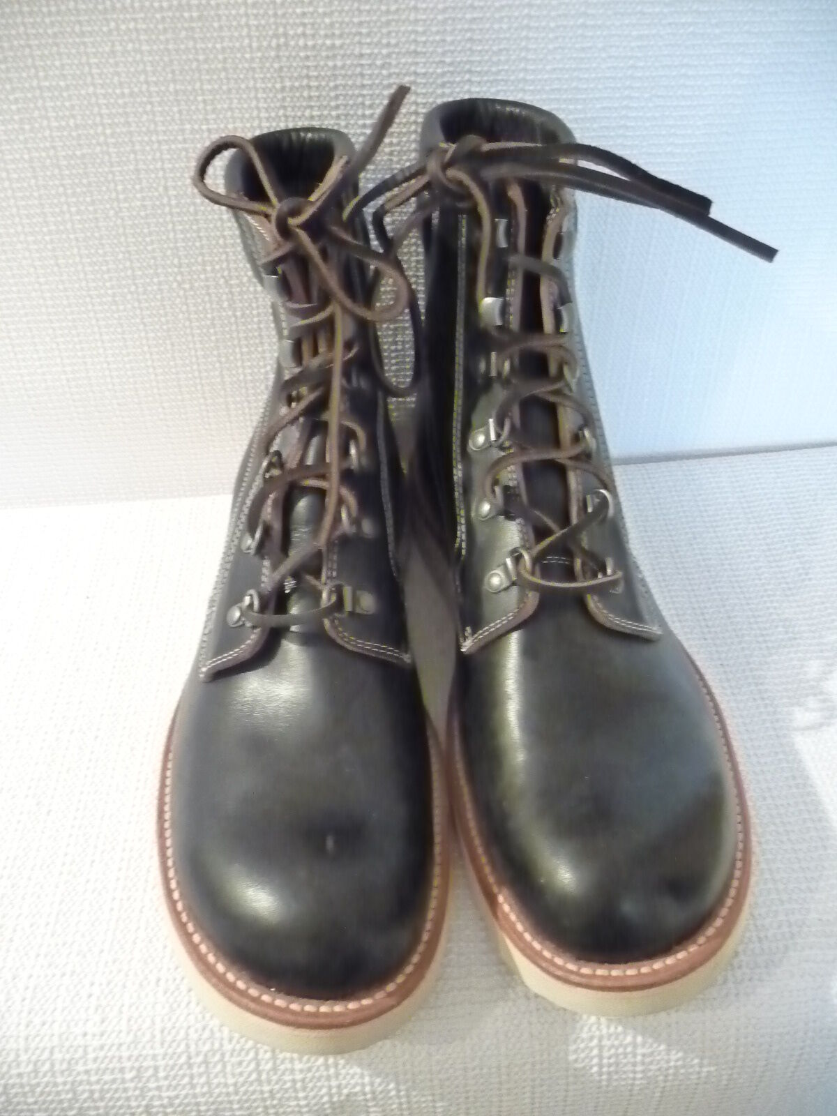 Nuevo WALLACE & BARNES Llano-Toe Byrd botas, E3785, tamaño 11, Negro,