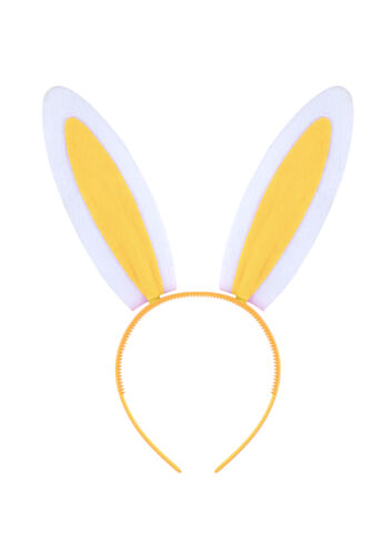 Jaune oreilles de lapin bandeau-Costume Robe Fantaisie Enterrement Vie Jeune Fille Lapin De Pâques Chapeau