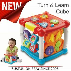 VTech-Turn-amp-Learn-Activity-Cube-For-Baby-Explore-With-Music-Shapes-Lightup-6-M