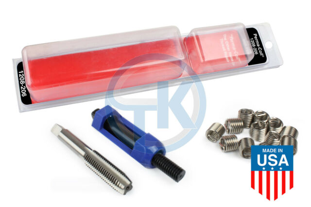 Perma-Coil 1//4-28 1//4 x 28 Fine SAE Thread Repair Kit can use Helicoil Inch