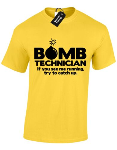 BOMB TECHNICIAN MENS T SHIRT FUNNY NEW QUALITY DESIGN GREAT GIFT PRESENT TOP