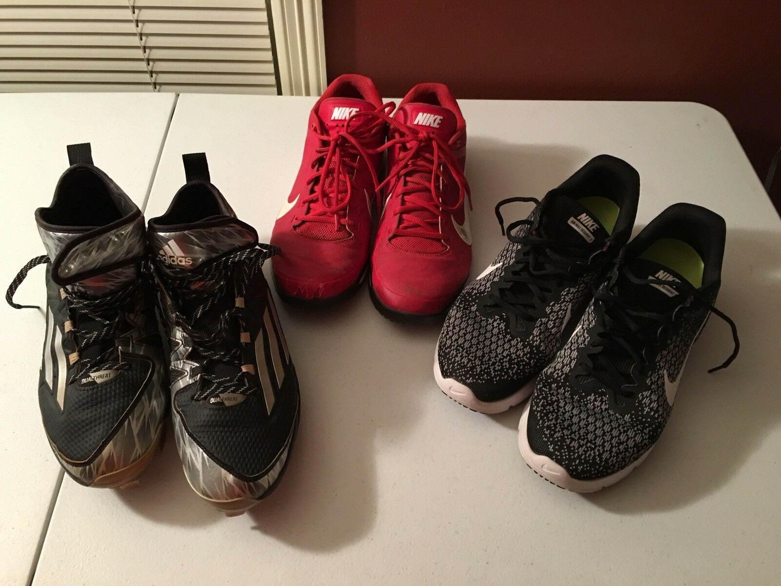 Wild casual shoes NIKE and ADIDAS 3 PAIRS OF SIZE 11 ATHLETIC SHOES USED