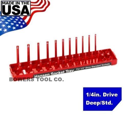 "Hansen Global 1//4/"" Drive Standard SAE Inch Regular /& Deep Socket Tray Organizer"