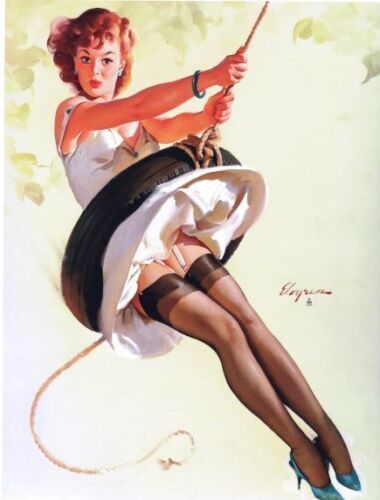 Vintage 1950/'s Pin Up Poster 3 A4//A3//A2//A1 Print