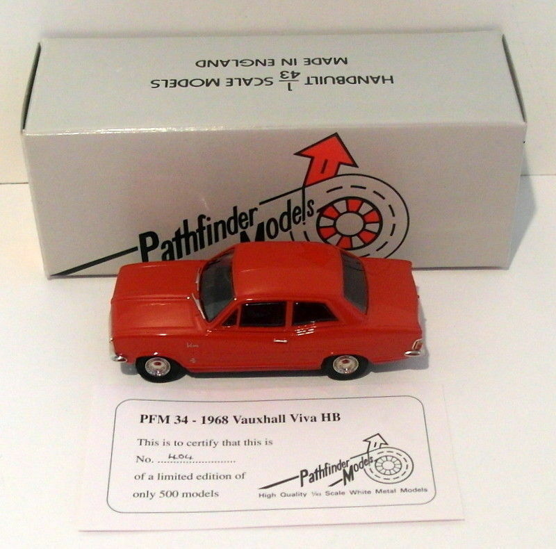 Pathfinder Models 1 43 Scale PFM34 - 1968 Vauxhall Viva HB 1 Of 500 Red