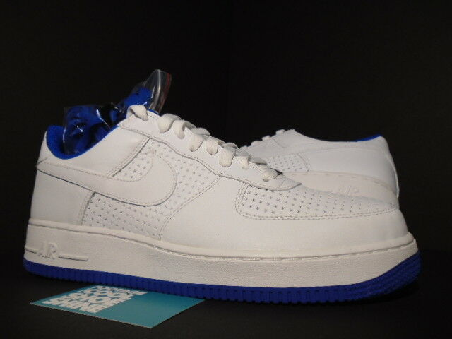 06 Nike Air Force 1 WHITE VARSITY ROYAL blueE PERFORATED PERF STARS 313642-141 11