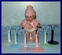 6 Rainbow Kaiser Doll Stands For 5 Berenguer Babies U.s.ships Free