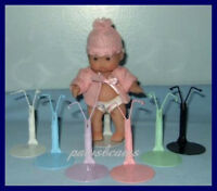 6 Rainbow Kaiser Doll Stands For 5 Berenguer Babies U.s.ships Free