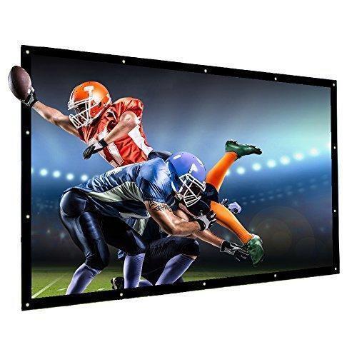 Projector Screen Outdoor Indoor 100 Inch 16:9 Diagonal