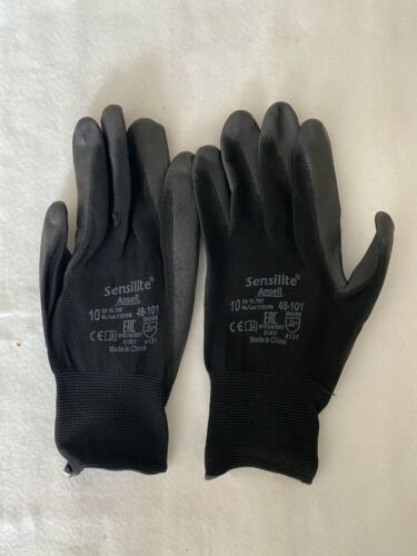 12 pairs 48-101 ANSELL SENSILITE PALM COATED GLOVE size 10